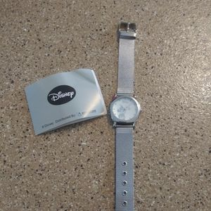 Mickey mouse silver watch disney clock
